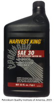 Harvest King SAE 30 Front Finished